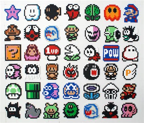 pattern game ideas nerdcraft craft like a nerd with perler bead sprites
