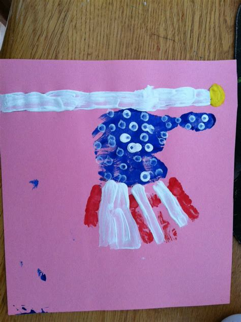 4th of july hand print craft super mommy to the rescue