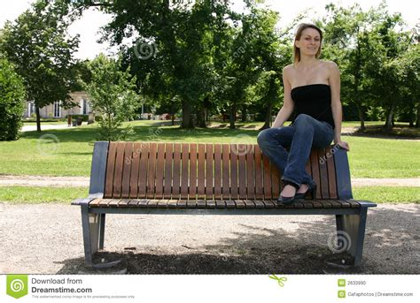Sitting Bench Sitting On A Bench Stock Photo Image 2633990