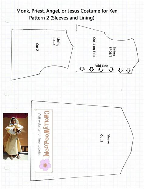 sewing pattern offers catholic priest costume pattern for sewing a friar
