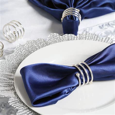 Alumunium Napkin Ring 48 pcs spiral design aluminum napkin rings wedding