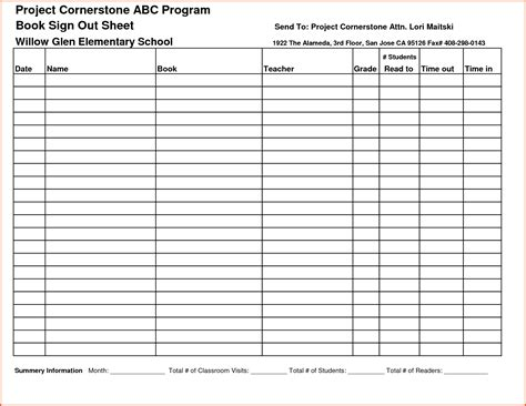Sign Sheet Template by Tool Sign Out Sheet Khafre