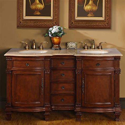 Travertine Bathroom Vanity Silkroad Exclusive Travertine Top Sink Bathroom Vanity With Cabinet 60 Inch Review
