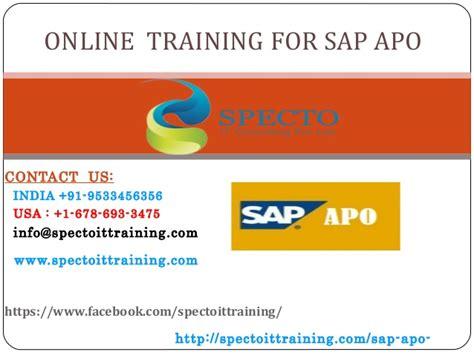 tutorial sap apo sap apo training in usa