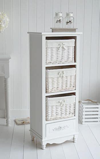 rose tall white storage basket unit   drawers  white lighthouse bedroom furniture