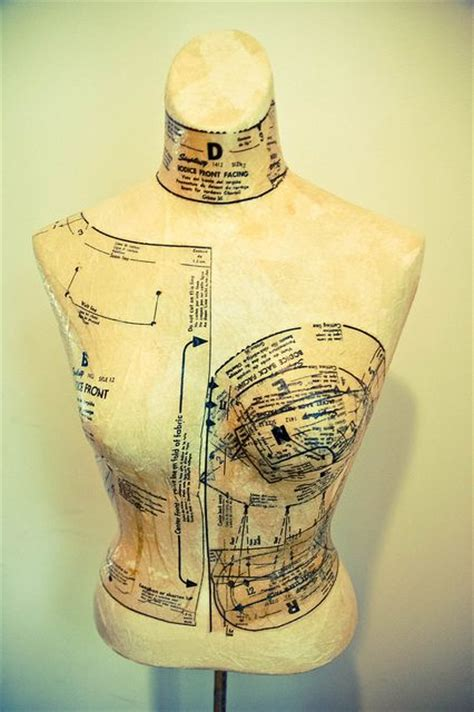 Decoupage Mannequin - decoupage dress patterns onto dress form i like the