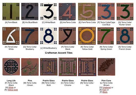 craftsman house numbers craftsman house number tile 7 oak park home hardware