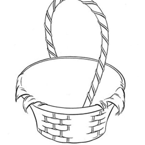 coloring page of empty easter basket basket coloring pages