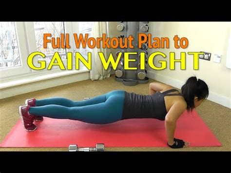 workout plan to gain weight for