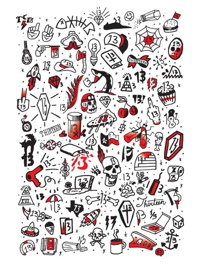 tattoo flash friday the 13th friday the 13th tattoo flash art print by sanctuary