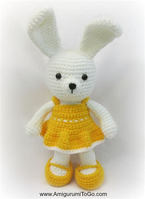 crochet dress pattern just go with it easy spring time dress for bunny amigurumi to go