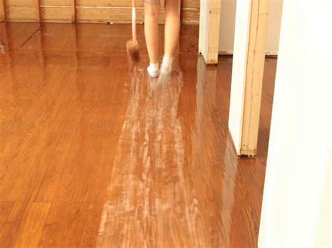 applying polyurethane to floors image mag