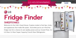 Lg Refrigerator Sweepstakes - lg home appliance fridge finder sweepstakes win an lg french door refrigerator