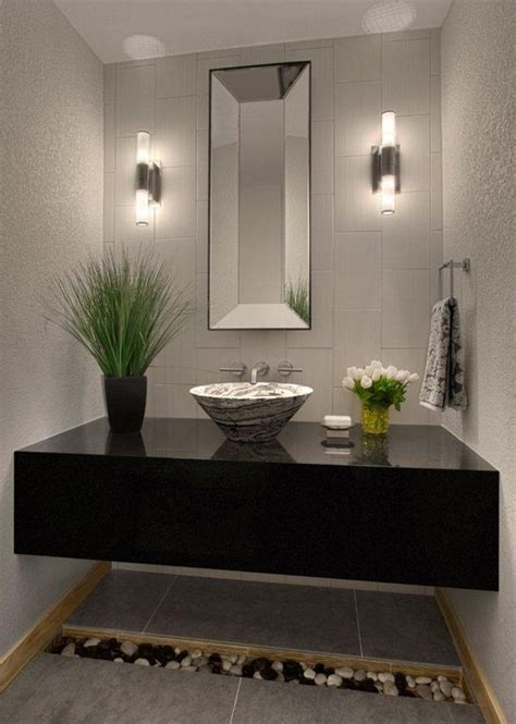 contemporary powder room contemporary powder room with simple granite counters by