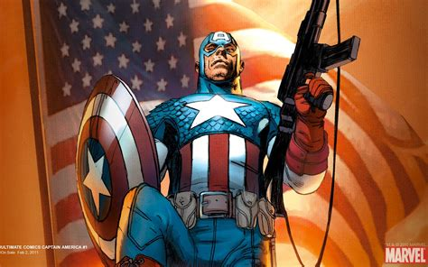 captain america weapon wallpaper ultimate comics captain america 2010 1 wallpaper apps