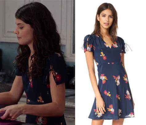 Yzam Sabrina Flower Navy shop your tv the mick season 2 episode 5 sabrina s navy floral dress