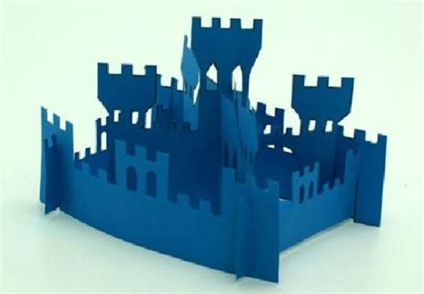 Origami Castle Easy - papercraft for how to make a simple castle