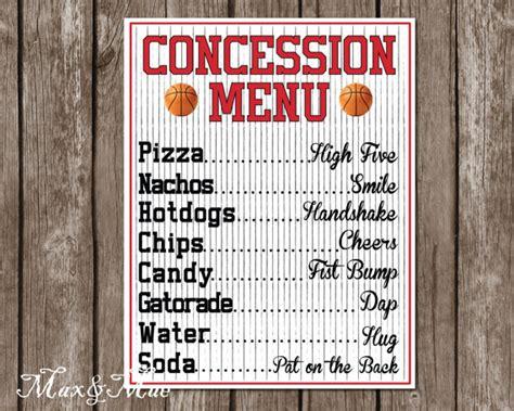 tennessee fanatic decor sports decor sports concession menu basketball party decor basketball
