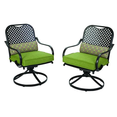 motion patio chairs hton bay fall river motion patio dining chair with moss