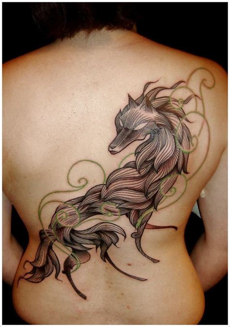tattoo back wolf unique wolf tattoo design on back busbones