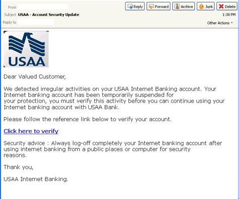 Usaa Bank Letterhead Phishers Take Aim At Usaa 171 Threattrack Security Labs 171 Threattrack Security Labs