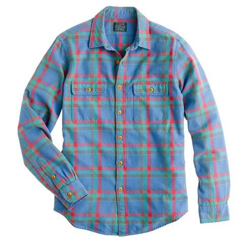 Kemeja Flannel Tartan Blue flannel shirt in cambridge blue plaid j crew
