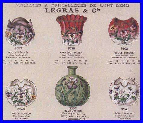 Art Nouveau Vases Legras Pantin Amp Saint Denis Crystal Catalog Year 1899 To