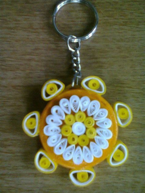 How To Make Paper Keychains - key chain paper quilling key chains