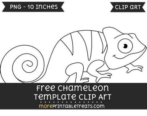 free chameleon template clipart free clipart files