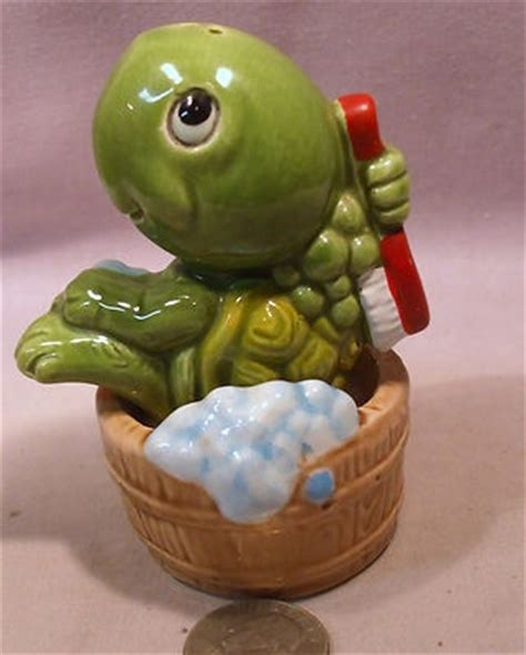 turtle in bathtub vintage turtle taking a bath in a tub s p shakers