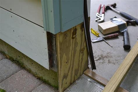 Garage Door Frame Repair Replace Rotted Garage Door Jamb Wageuzi