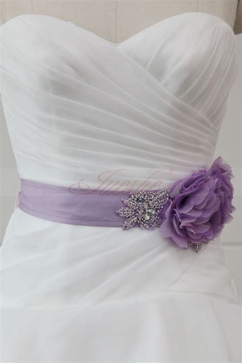 purple flower belt for a wedding dress home gt lilac