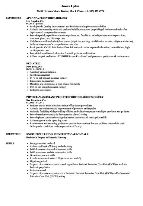 Pediatric Resume by Pediatric Resume Sles Velvet
