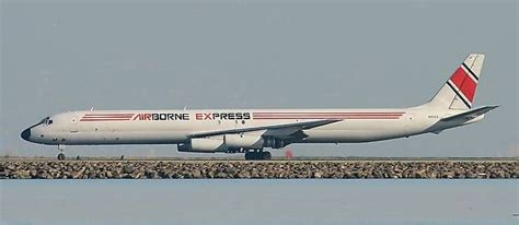 airborne express dc 8 freighter cargo airlines abx air airborne express air charter