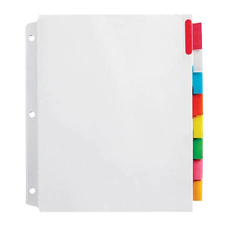 color dividers office depot brand insertable wide dividers with big