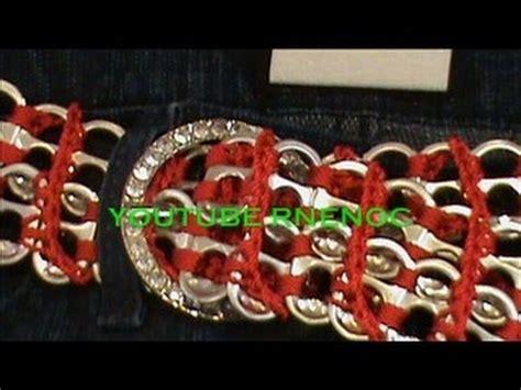 tejer con fichas de lata 2 de 3 como tejer cinturon con arillos de lata ganchillo