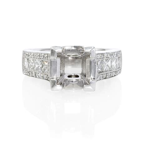 platinum antique style engagement ring setting ebay