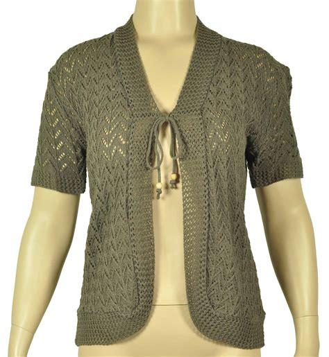 shrug knitting patterns uk knitted shrug cardigan womens top size 14 24 ebay