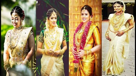 Kerala wedding sarees exclusive of 2017   TOP 30 LATEST