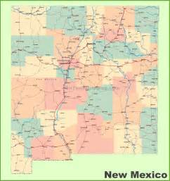 New Mexico City Map by Road Map Of New Mexico With Cities