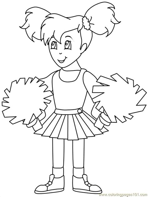 cheerleading coloring pages coloring pictures of coloring home
