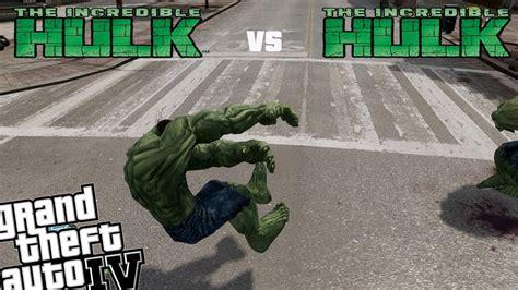 mod gta 5 ps3 hulk gta iv hulk mod with powers hulk vs hulk rematch youtube