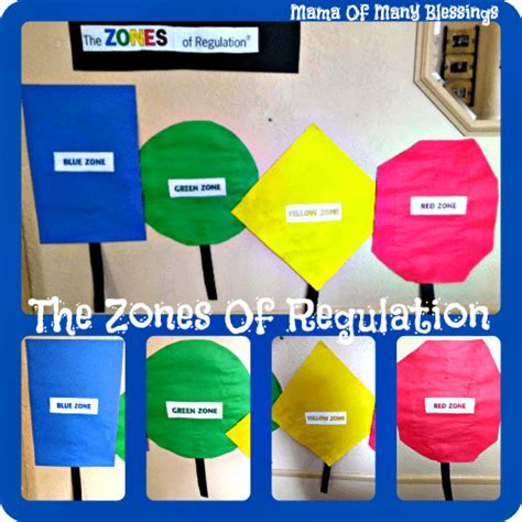 zones of regulation printable signs teaching self regulation and emotional control the zones