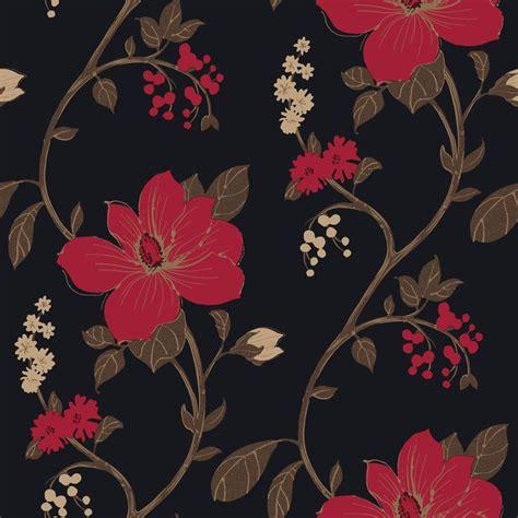 arthouse opera tatami black red wallpaper departments