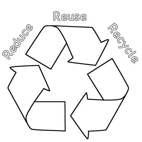 recycle coloring pages preschool recycling coloring pages for kids coloring home