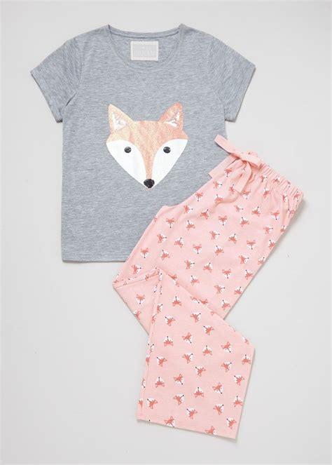 Wbxonia Set 3 In 1 fox print pyjama set matalan sleep pajamas fox print pyjama sets and pyjamas