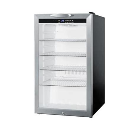 Glass Door Mini Refrigerator Summit Appliance 4 Cu Ft Compact Glass Door All Refrigerator In Black Scr485l The Home Depot
