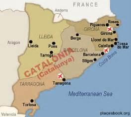 map catalonia spain tourism
