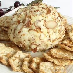 swiss almond cheese ball recipe image