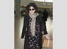 Helena Bonham Carter Patterned Scarf - Helena Bonham ... Keira Knightley No Makeup